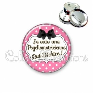 Badge 56mm Psychomotricienne qui déchire (006ROS15)