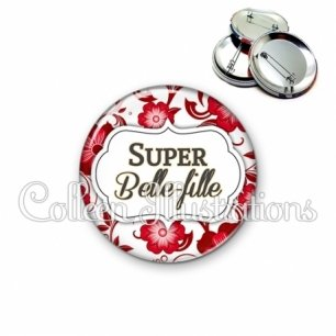 Badge 56mm Super belle-fille (006ROU01)