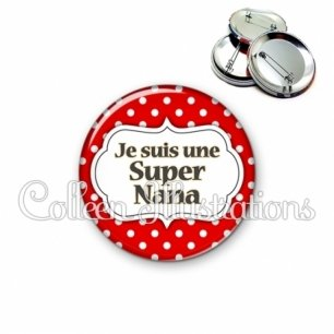 Badge 56mm Super nana (006ROU02)