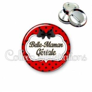 Badge 56mm Belle-maman géniale (006ROU03)