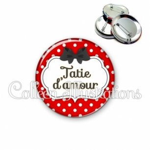 Badge 56mm Tata d'amour (006ROU05)