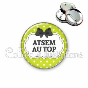 Badge 56mm ATSEM au top (006VER01)