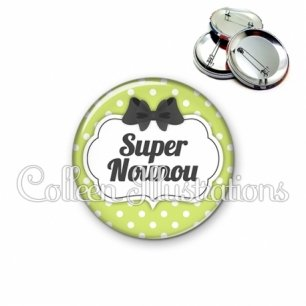 Badge 56mm Super nounou (006VER01)