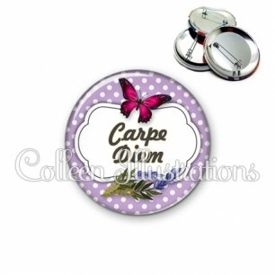 Badge 56mm Carpe diem (006VIO06)