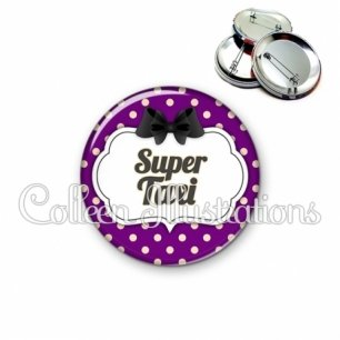 Badge 56mm Super taxi (006VIO08)