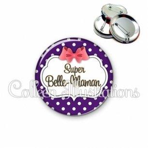 Badge 56mm Super belle-maman (006VIO09)
