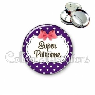 Badge 56mm Super patronne (006VIO09)