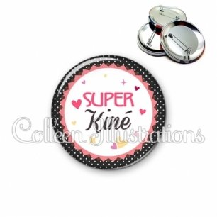 Badge 56mm Super kiné (007NOI01)