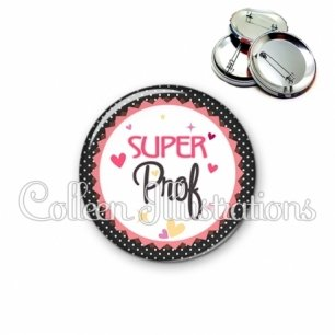 Badge 56mm Super prof (007NOI01)