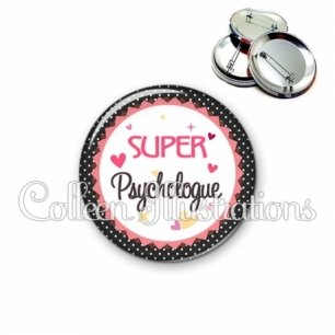 Badge 56mm Super psychologue (007NOI01)