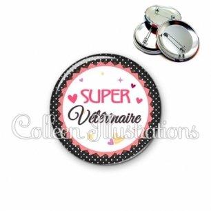 Badge 56mm Super vétérinaire (007NOI01)