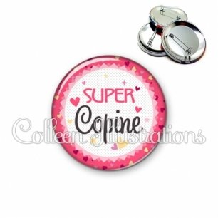 Badge 56mm Super copine (007ROS01)