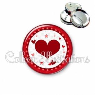 Badge 56mm Cœurs (007ROU01)