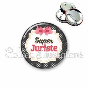 Badge 56mm Super juriste (008NOI02)