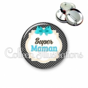 Badge 56mm Super maman (008NOI07)