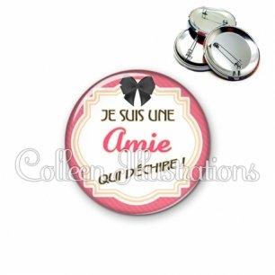 Badge 56mm Amie qui déchire (008ROS01)