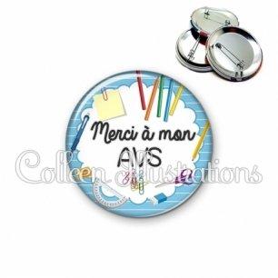 Badge 56mm Merci AVS (009BLE01)
