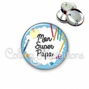 Badge 56mm Super papa (009BLE01)