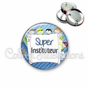 Badge 56mm Super instituteur (010BLE01)