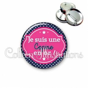 Badge 56mm Copine en or (011BLE01)