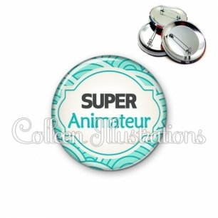 Badge 56mm Super animateur (011BLE02)