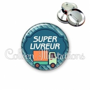 Badge 56mm Super livreur (011BLE05)