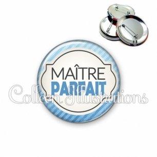 Badge 56mm Maître parfait (011BLE06)