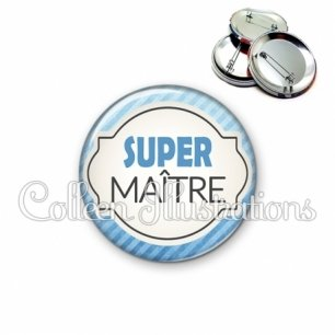 Badge 56mm Super Maître (011BLE06)