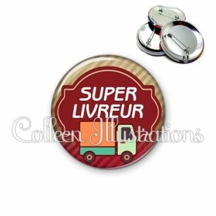 Badge 56mm Super livreur (011MAR01)