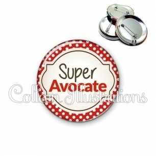 Badge 56mm Super avocate (011ROU01)