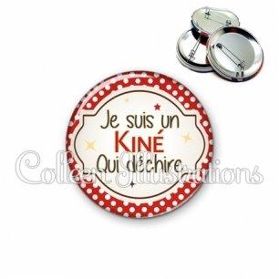 Badge 56mm Kiné qui déchire (011ROU01)