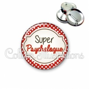 Badge 56mm Psychologue qui déchire (011ROU01)