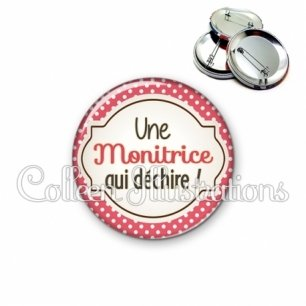 Badge 56mm Monitrice qui déchire (011ROU02)