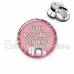 Badge 56mm Assistante dentaire (012ROS01)