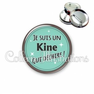 Badge 56mm Kine qui déchire (012VER01)