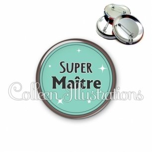 Badge 56mm Super maître (012VER01)