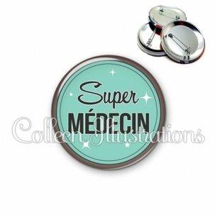 Badge 56mm Super médecin (012VER01)