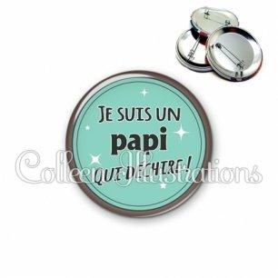 Badge 56mm Papi qui déchire (012VER01)