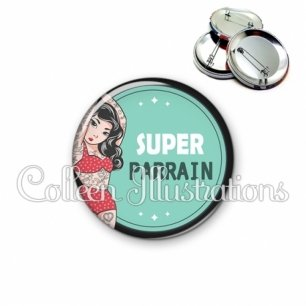 Badge 56mm Super parrain (012VER02)