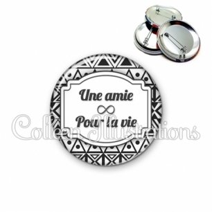 Badge 56mm Amie pour la vie (013BLA01)