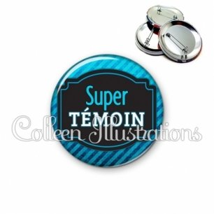 Badge 56mm Super témoin (013BLE03)