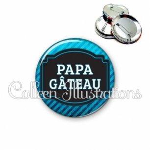 Badge 56mm Papa gâteaux (013BLE03)
