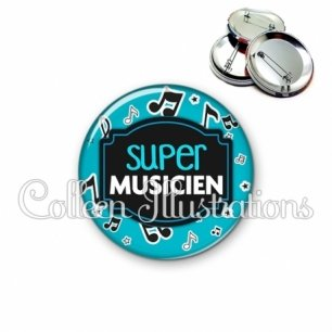 Badge 56mm Super musicien (013BLE05)