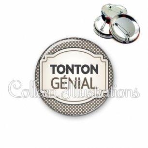 Badge 56mm Tonton génial (013GRI01)
