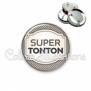 Badge 56mm Super tonton (013GRI01)