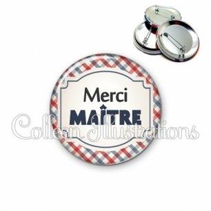 Badge 56mm Merci maître (013MUL01)