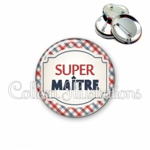 Badge 56mm Super maître (013MUL01)