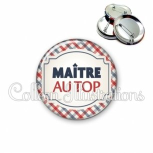 Badge 56mm Maître au top (013MUL01)