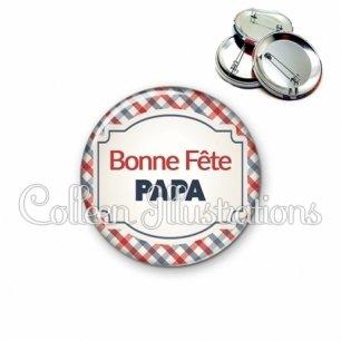 Badge 56mm Bonne fête papa (013MUL01)