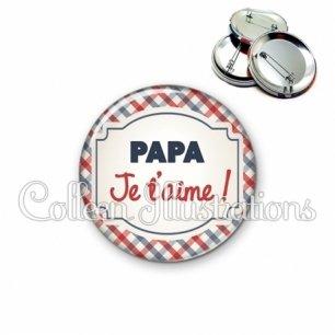 Badge 56mm Papa je t'aime (013MUL01)